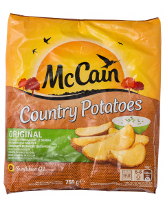 Cartofi wedges McCain Country Potatoes 750g
