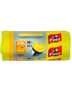 Saci menajeri Fino Color 20litri, 44x50cm, galben 30buc
