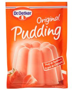 Praf de budinca cu gust de capsuni Dr.Oetker Original Pudding 40g