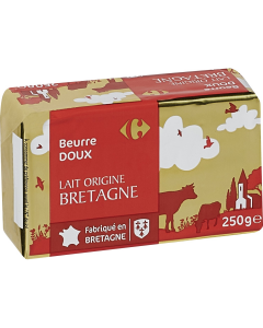 Unt dulce Bretania 82% grasime 250g Carrefour
