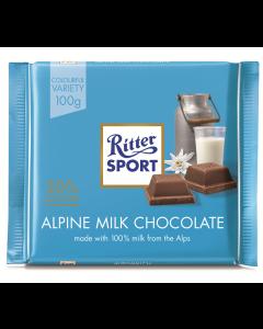 Ciocolata cu lapte alpin Ritter Sport 100g