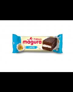 Prajitura cu crema de lapte si glazura de cacao Magura 35g