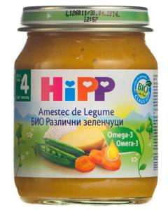Piure cu amestec de legume 4 luni+ Hipp 125g