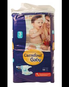 Scutece midi 3-9 kg Carrefour Baby 56 buc
