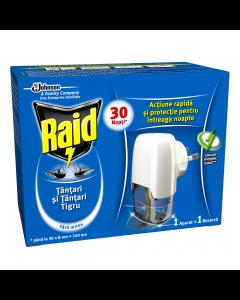 Aparat electric lichid cu fitil anti-tantari Raid 21ml