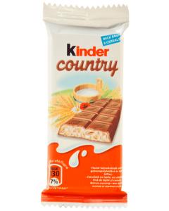 Ciocolata cu lapte si cereale Kinder Country 23.5g