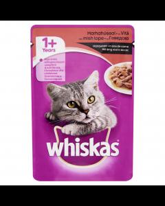 Hrana umeda completa cu vita pentru pisici adulte Whiskas 100g