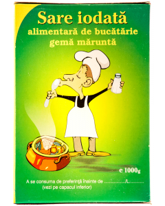 Sare iodata alimentara gema marunta Salrom 1kg