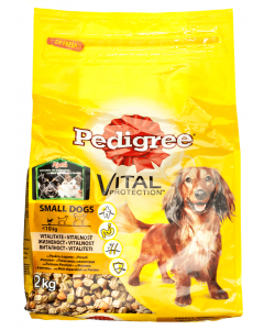 Hrana uscata cu pasare si legume pentru caini adulti Pedigree Vital 2kg