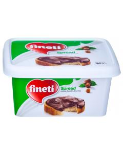 Crema de cacao, alune padure si lapte Fineti Spread 600g
