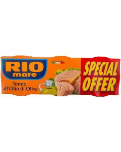 Ton in ulei de masline Rio mare 3 x 160g