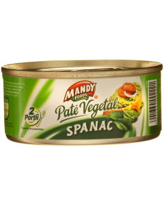 Pate vegetal cu spanac Mandy 120g