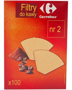 Filtre de cafea nr 2 Carrefour 100buc
