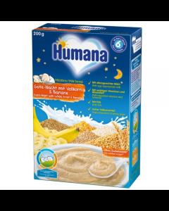 Cereale de noapte cu banane, fulgi de ovaz si lapte Humana 250g