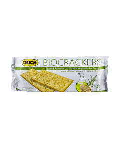 Biscuiti bio cu susan si rozmarin Crich Bio Crackers 250g
