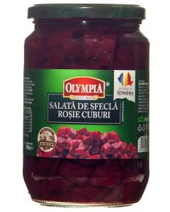 Salata de sfecla rosie cuburi Olympia 700g