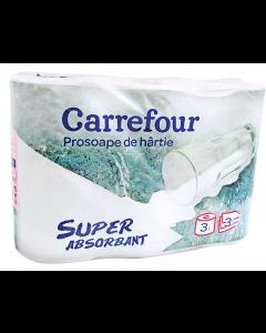 Prosoape de bucatarie Carrefour 3 straturi 3 role
