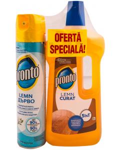 Pachet promotional Pronto lemn spray 300 ml si detergent lichid 750 ml