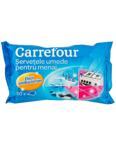 Servetele umede pentru menaj Carrefour 50buc