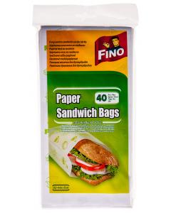 Pungi pentru sandwich-uri din hartie Fino 40buc