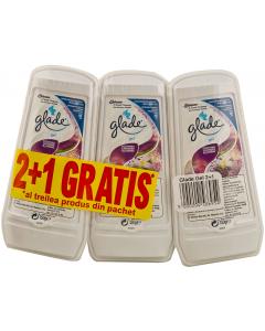Gel 2+1 cu lavanda si iasomie Glade 3x150g