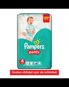 Scutece chilotei Pampers Pants 52 buc, 4 maxi, 9-14Kg