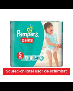 Scutece chilotei Pampers Pants, 22 bucati, 5 Junior, 12-18 kg