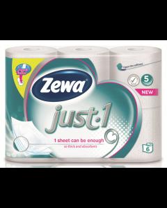 Hartie igienica Zewa Just 6 role, 5 straturi