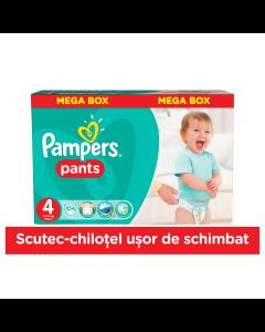 Scutece chilotel Pampers Pants, 104 bucati, 4 Maxi, 9-14 kg