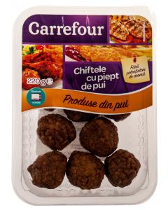 Chiftele cu piept de pui Carrefour 220g