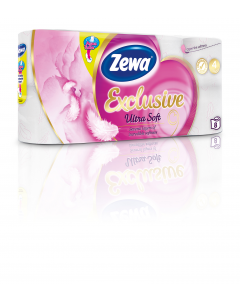 Hartie igienica Zewa Exclusive Ultra Soft, 4 straturi, 8 role