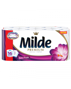 Hartie igienica Milde Relax Purple, 16 role, 3 straturi