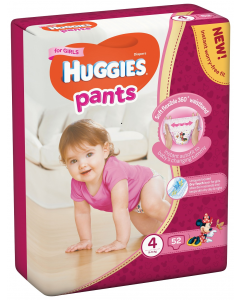 Huggies Pants D Mega nr 4 Girl 52 buc  9-14  kg