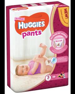 Scutece Pants nr 3 Girl, 6-11 kg, 58 bucati, Huggies