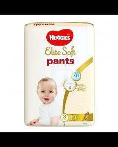 Scutece chilotel Huggies Elite Soft Pants Mega Pack 3, 6-11 kg, 54 buc
