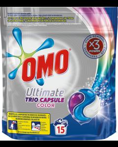 Detergent automat capsule Omo Ultimate Trio Caps Colour, 15spalari, 15bucati