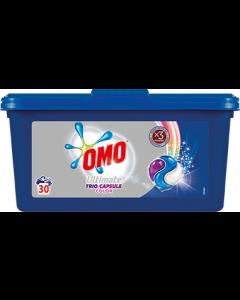 Detergent automat capsule Omo Ultimate Trio Caps Colour, 30spalari, 30bucati