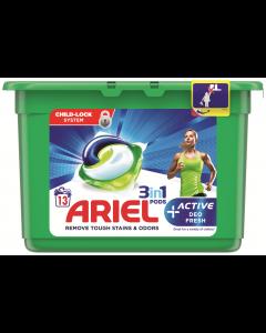 Detergent automat capsule Ariel 3in1 PODs Active Deo Fresh, 13spalari, 13buc