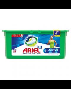 Detergent automat capsule 3in1 PODS +Active deo-fresh Ariel 25bucati