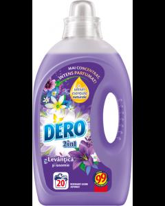 Detergent automat lichid Dero 2in1 Lavanda, 20 spalari, 1l
