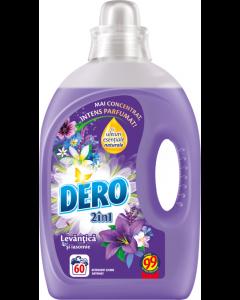 Detergent automat lichid Dero 2in1 Lavanda, 60 spalari, 3l