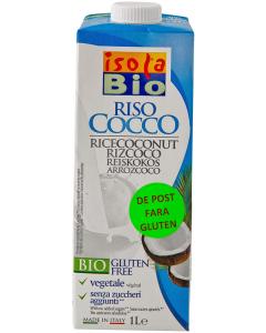 Bautura ecologica din orez Isola Riso Cocco 1L