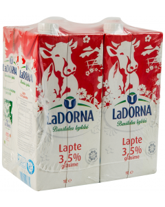 Lapte UHT 3.5% LaDorna 4x1L