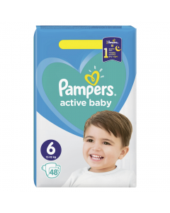 Scutece Pampers Active Baby Marimea 6, 13-18 kg, 48 buc