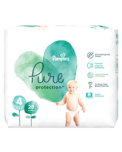 Scutece Pampers Pure Protection S4 9-14 kg 28 buc