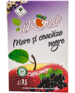 Suc 100% natural de mere si coacaze negre Aroma 3 L