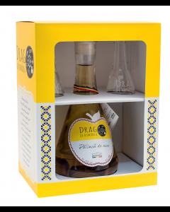 Palinca de mere si 2 toiuri cadou Drag de Romania 500ml