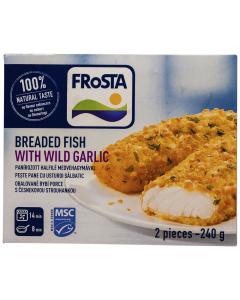 Peste pane cu usturoi salbatic Frosta Breaded Fish 240g