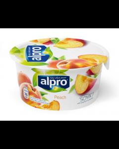Iaurt pe baza de soia si piersici Alpro 150 g