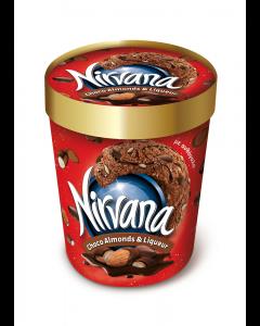 Inghetata ciocolata, migdale si lichior Nirvana 470ml